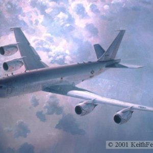 "The Vital Link, Lithographic print, 24"" x 30"" L/E 450  Signed and numbered by the artist The Boeing E-6 aircraft provides vital communication links between US command authority and undersea forces."
