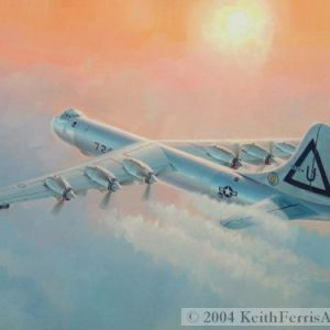 "Peacemaker, Convair's B-36 - Original Painting by Keith Ferris Contact Keith Ferris Galleries  Call 973.539.3363 for more information. 18"" x24"" Oil on board B-36"