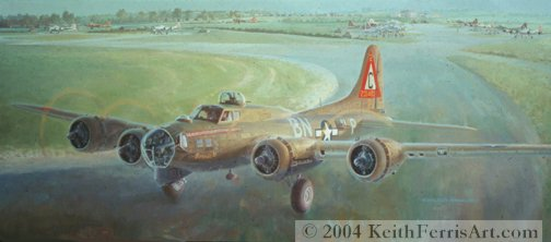 Now in the collection of the Mighty Eighth Air Force Museum in Savannah, GA The painting is dedicated to the crew chiefs of the 359th Squadron of the 303rd Bomb Group from  the 8th Air Force stationed at Molesworth, England.